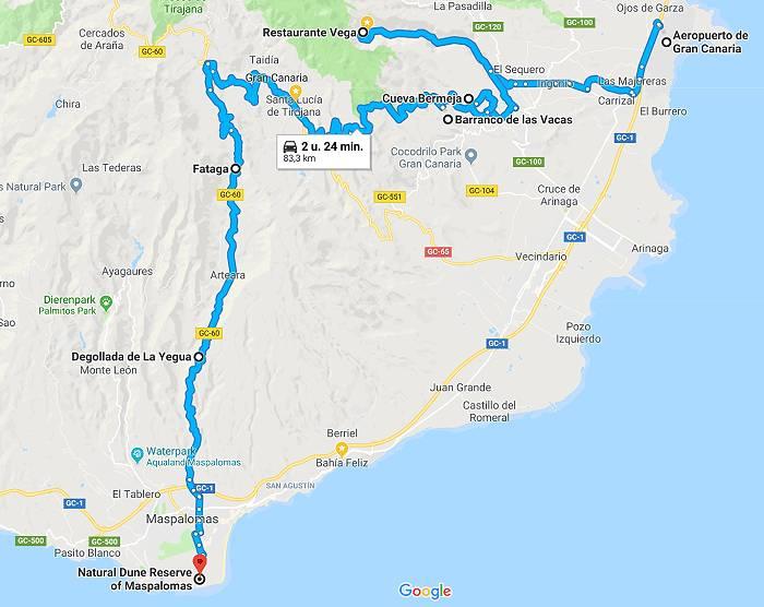 route gran canaria
