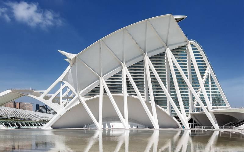 Het Science Museum in de stad van kunst en wetenschap in Valencia