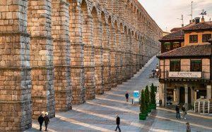 Het aquaduct in Segovia