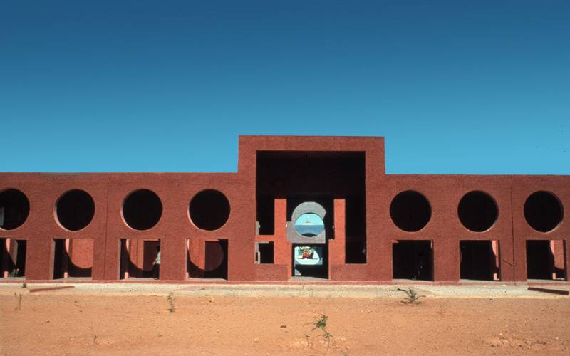 Exterior view of Houari Boumedienne Courtesy of Ricardo Bofill