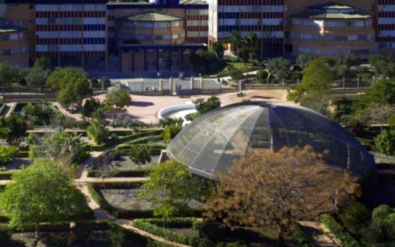 De botanische tuin van de universiteit van Malaga - Foto Universiteit Malaga.