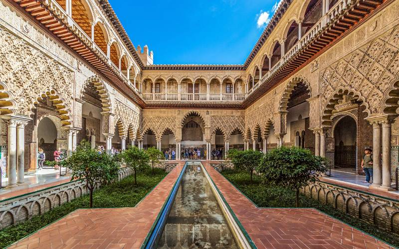 Real Alcazar of Seville _ Patio de Doncellas _ foto Ulrich Cziollek _ Flickr