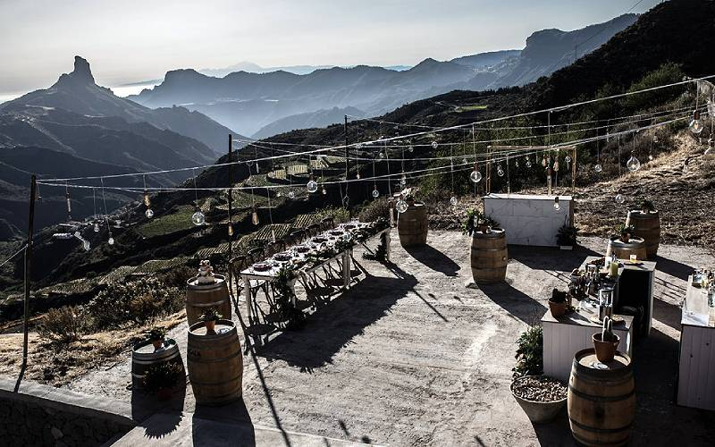Bodegas Bentayga en las Canarias
