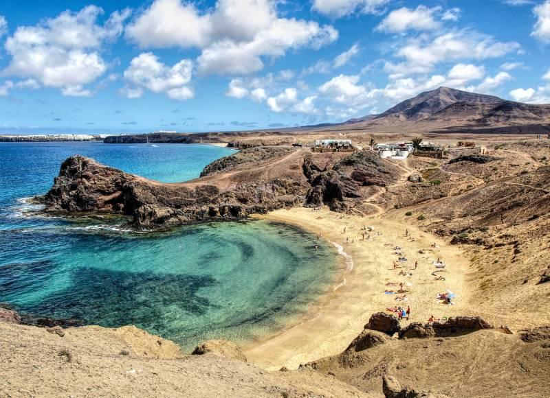 Playa Papagayo. Lanzarote. _ Una imagen clásica canaria _ La… _ Flickr foto Mackedwars