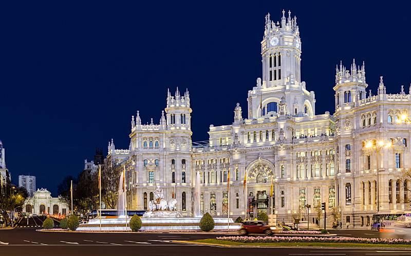 Plaza de la Cibeles, Madrid _ Foto nocturna de la madrileña … _ Flickr foto Javier Montes