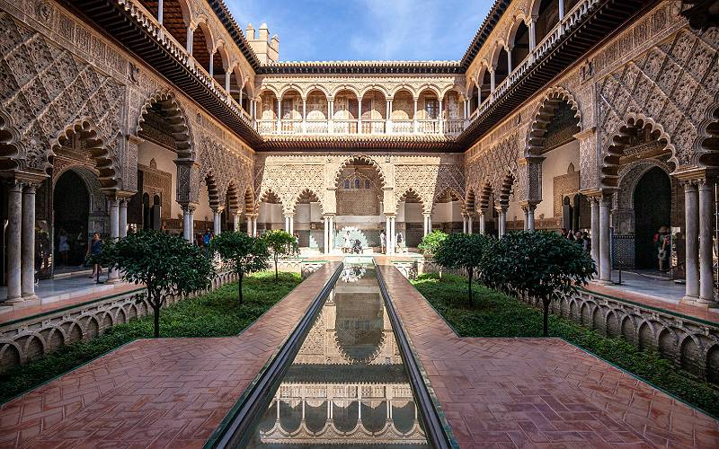 Reflecting Pool _ This is another section in the Alcázar of … _ Flickr foto Paul VanDerWerf